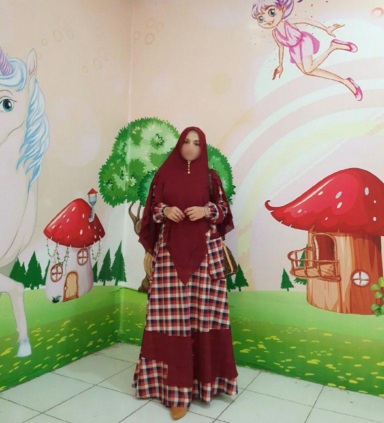 Binar Syar'i Warna Maroon