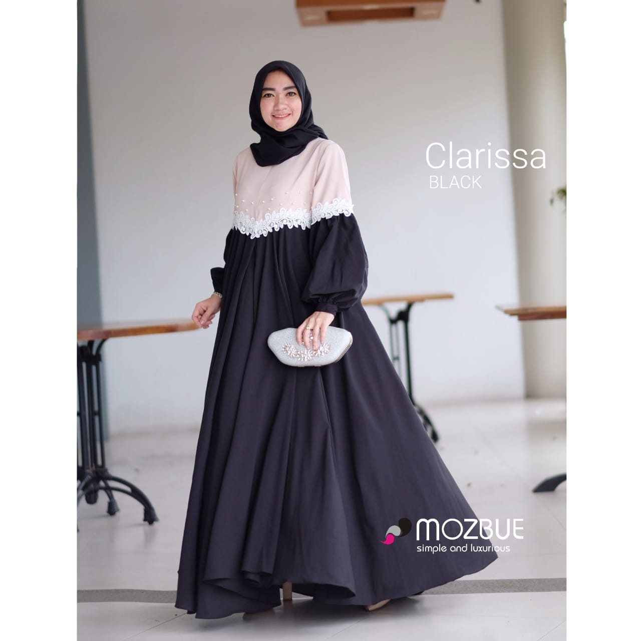 Clarissa Dress Warna Black