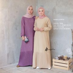 Kameela Dress Warna Lavender Beige