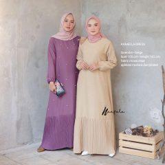 Kameela Dress Warna Lavender Beige