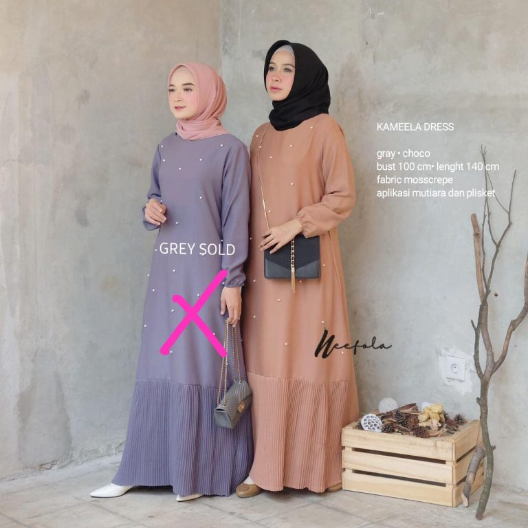 Kameela Dress Warna Choco