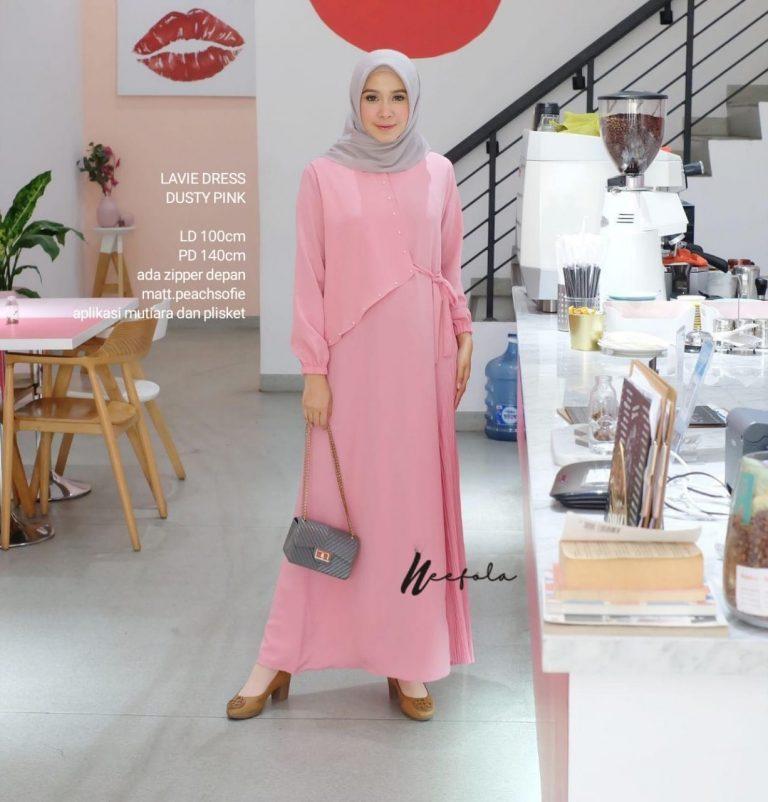 Lavie Dress Warna Dusty Pink