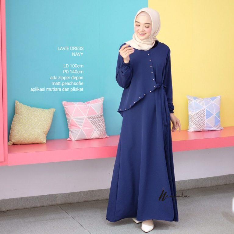 Lavie Dress Warna Navy Blue