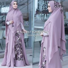 Mona Syar'i Warna Dusty Purple