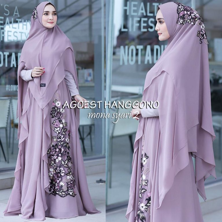 Mona Syar'i Warna Dusty Purple