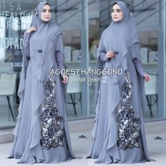 Mona Syar'i Warna Grey