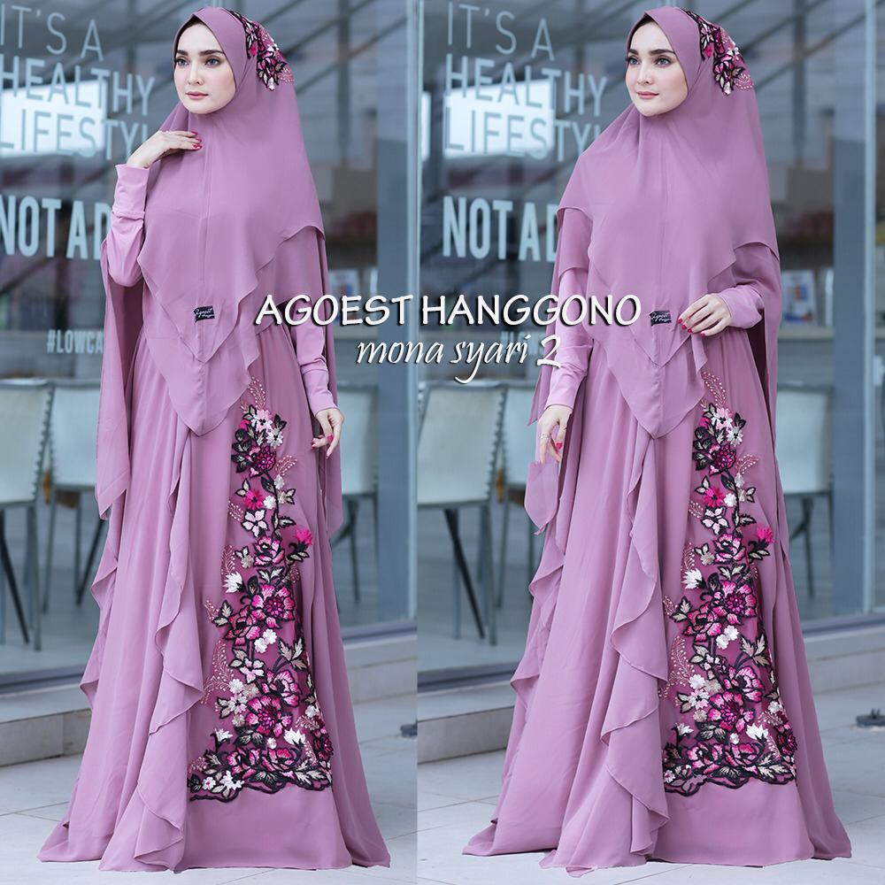 Mona Syar'i Warna Purple
