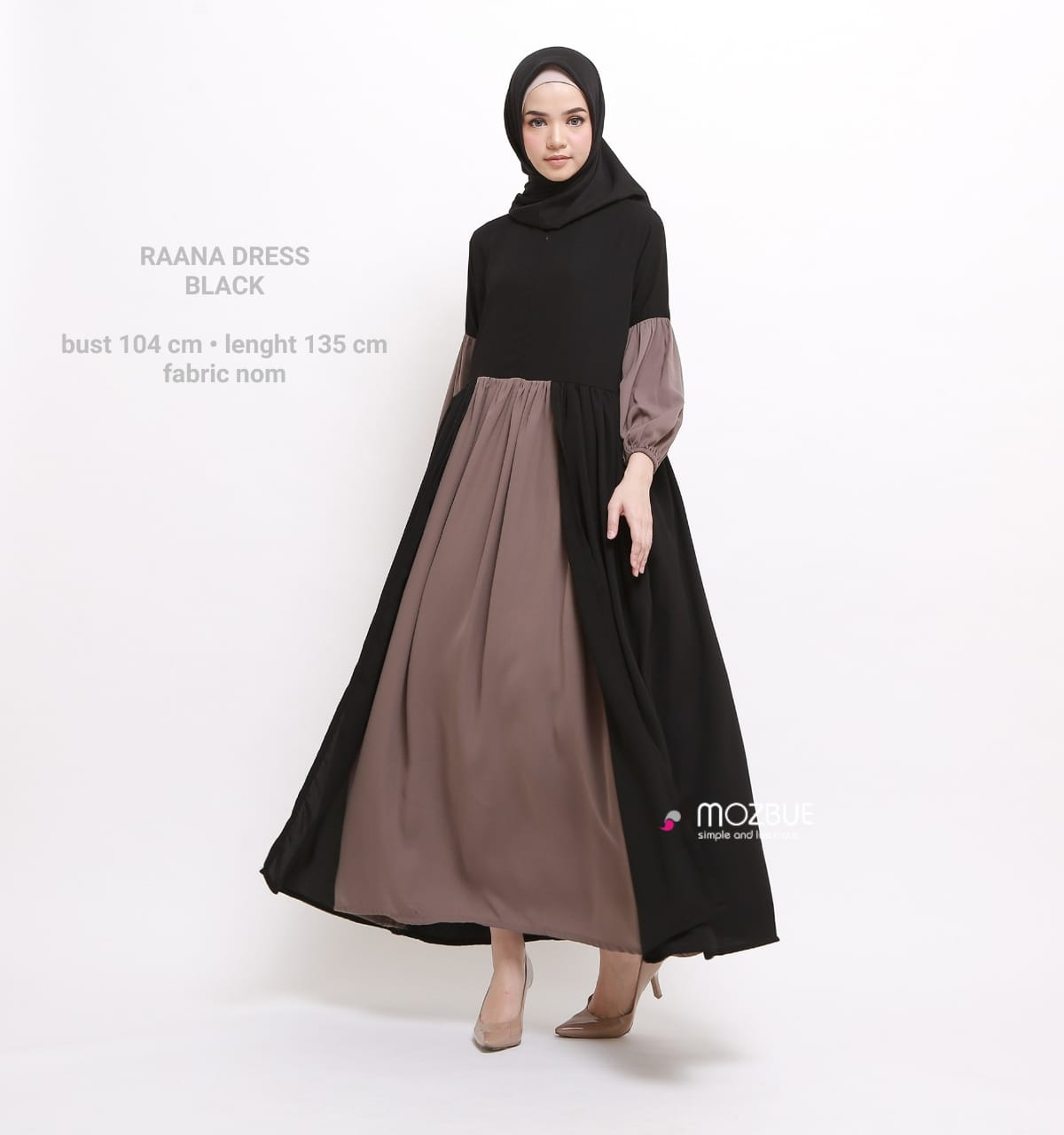 Raana Dress Warna Black
