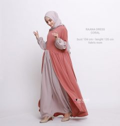 Raana Dress Warna Coral