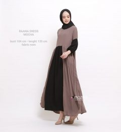 Raana Dress Warna Mocca