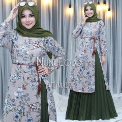 Safiya Dress New Colour Warna Army