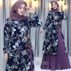 Safiya Dress New Colour Warna Purple