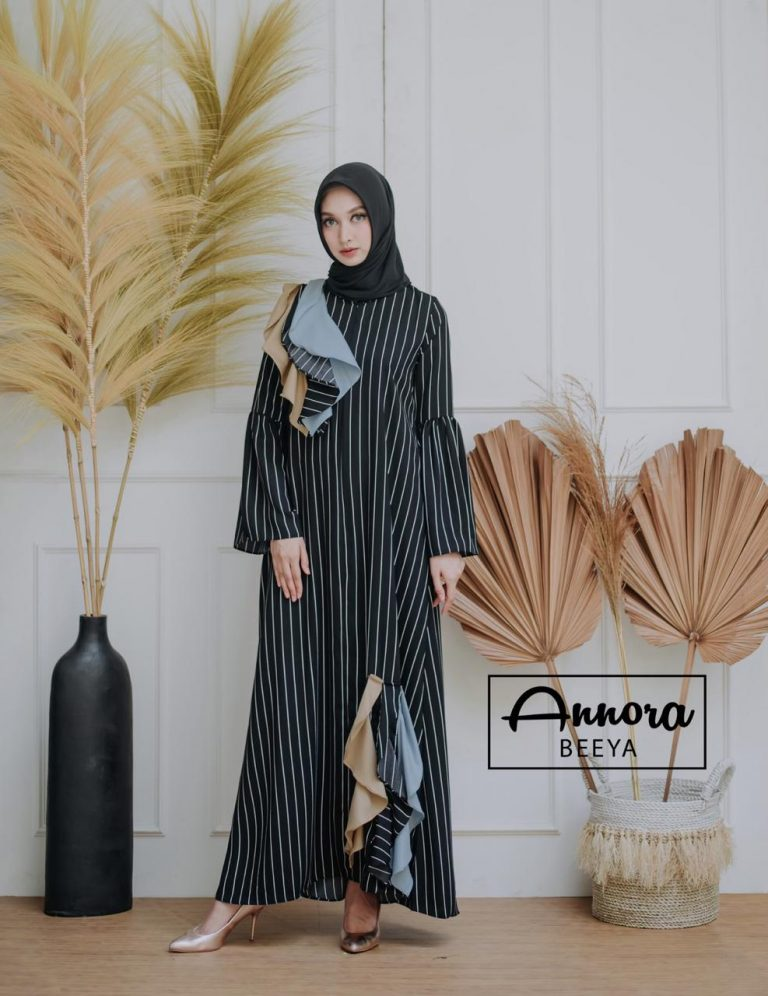 Beeya Dress Casual Warna Black