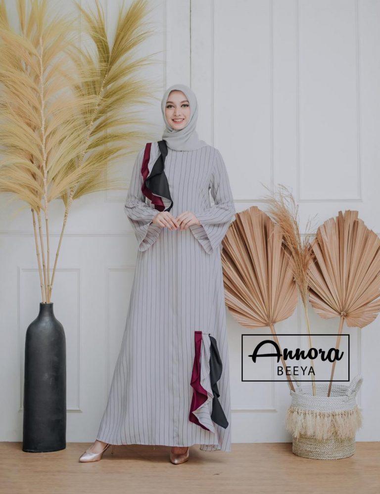 Beeya Dress Casual Warna Grey