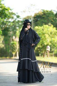 Cassidiy Syar'i Warna Black by RitZ
