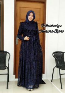 Cinta Dress Warna Biru Dongker