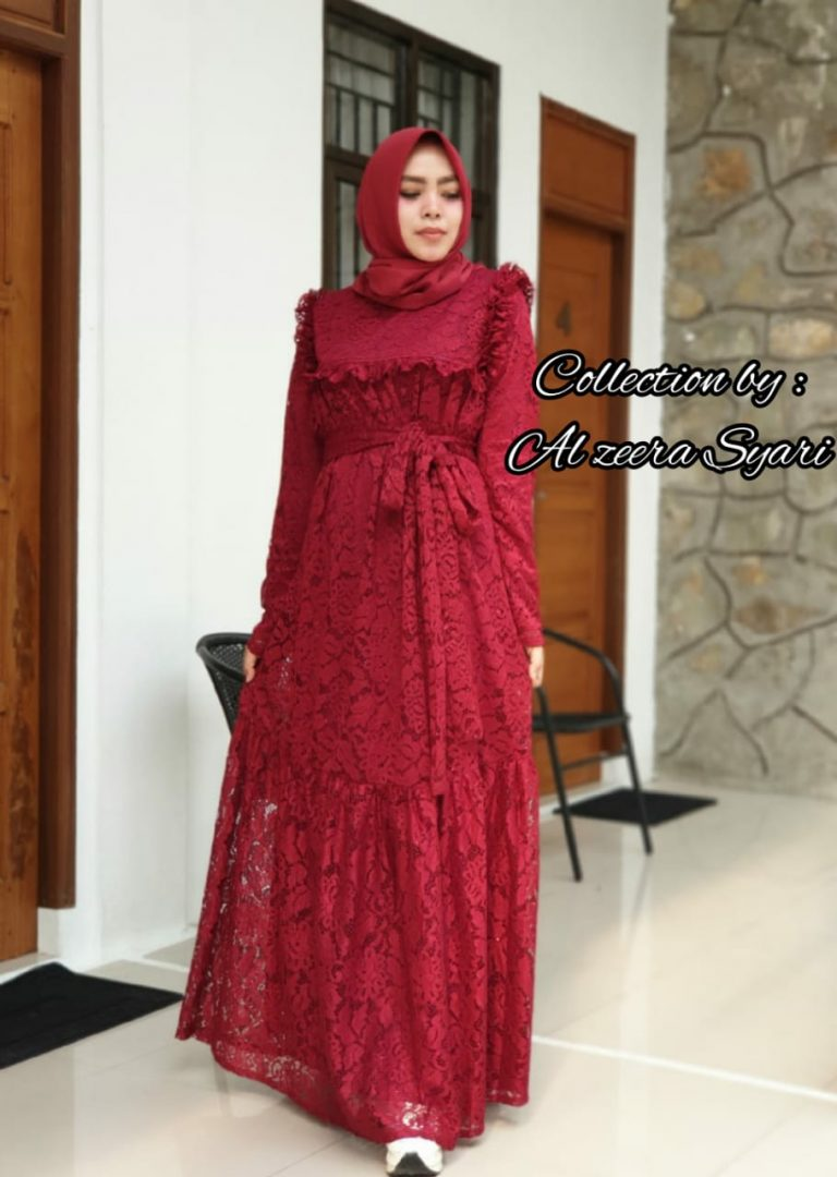 Cinta Dress Warna Maroon