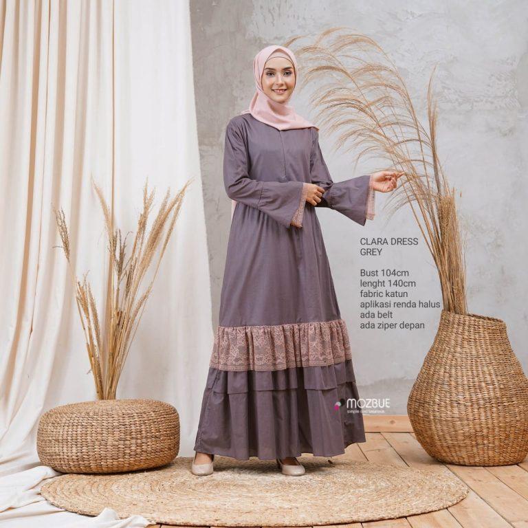 Clara Dress Warna Grey