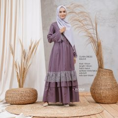 Clara Dress Warna Mauve