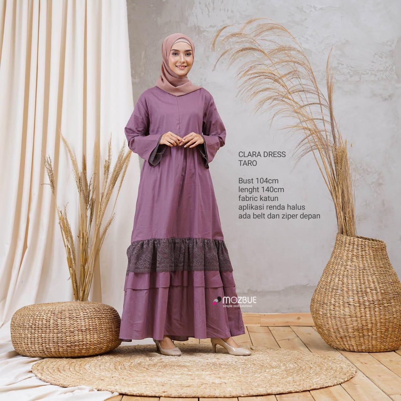 Clara Dress Warna Taro