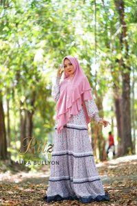 Laura Bullyon Syar'i Warna Dusty Pink By RitZ