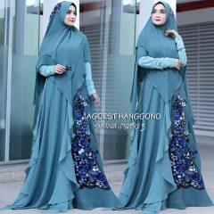 Mona Syar'i 3 Warna Blue