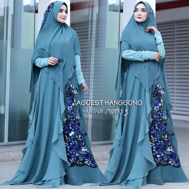 Mona Syar'i 3 Warna Blue