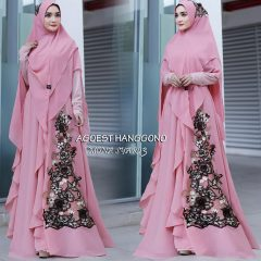 Mona Syar'i 3 Warna Dusty Pink