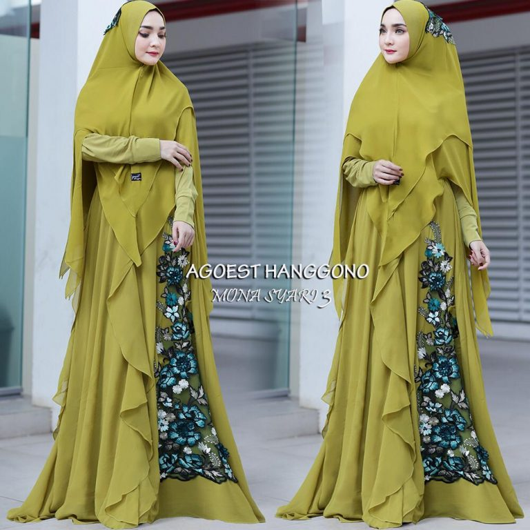 Mona Syar'i 3 Warna Lime