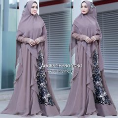 Mona Syar'i 3 Warna Dim Grey