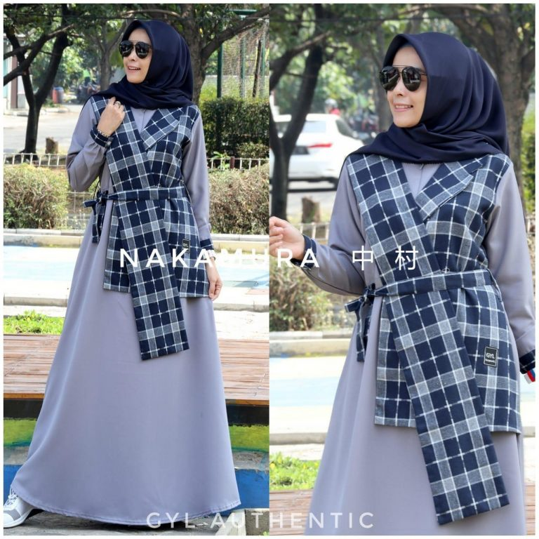 Nakamura Dress Warna Grey