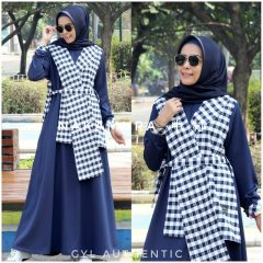 Nakamura Dress Warna Navy Blue