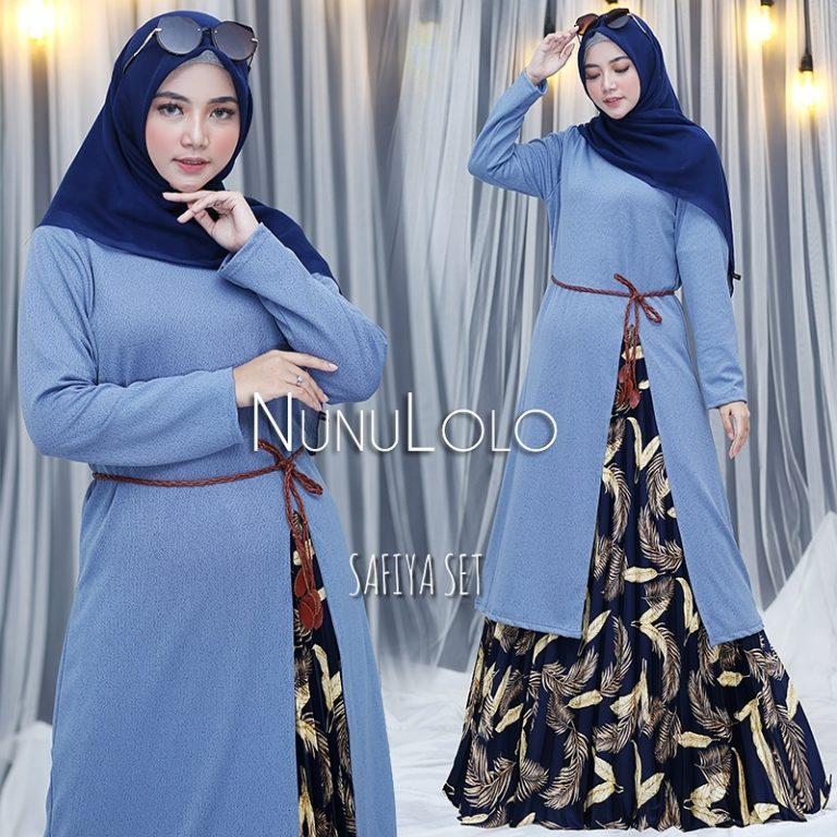 New Colour Safiya Set Warna Blue