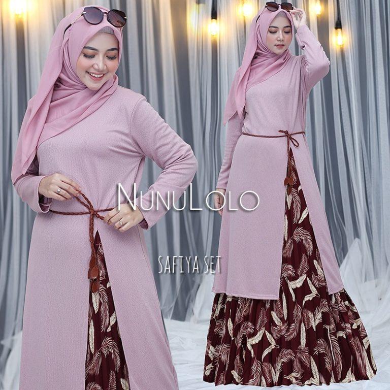 New Colour Safiya Set Warna Pink