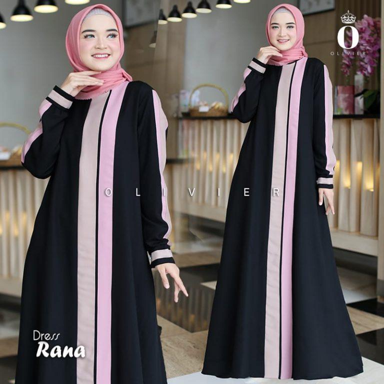 Rana Dress Warna Black By Olivier