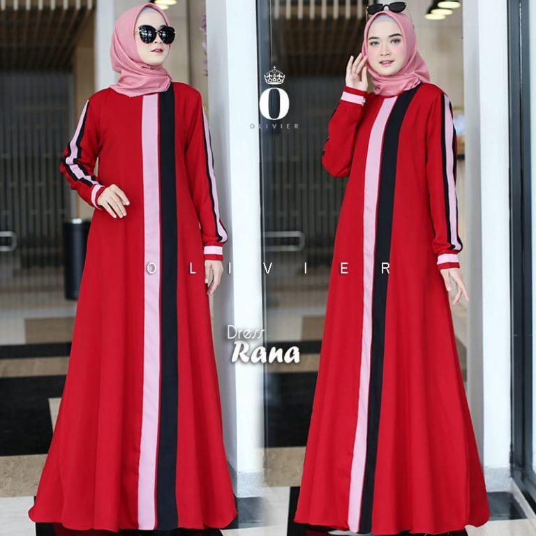 Rana Dress Warna Red By Olivier