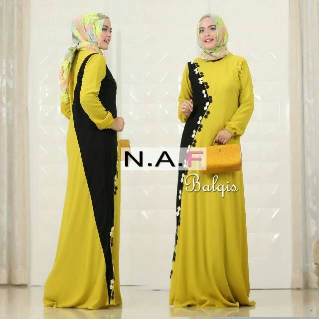 Balqis Dress Warna Lime