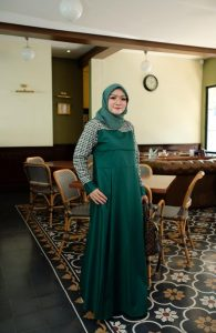 Ananda Dress Warna Hijau Botol
