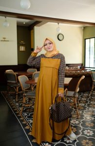 Ananda Dress Warna Mustard