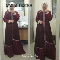 Ayana Dress Warna Maroon
