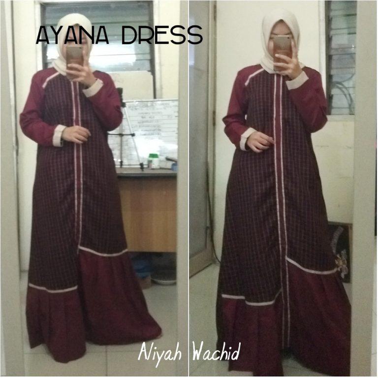 Ayana Dress Warna Maroon
