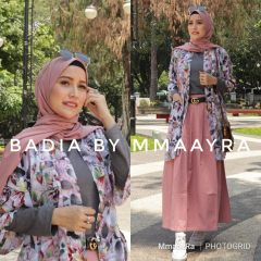 Badia Set Rok Warna Dusty Pink