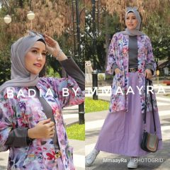 Badia Set Rok Warna Ungu