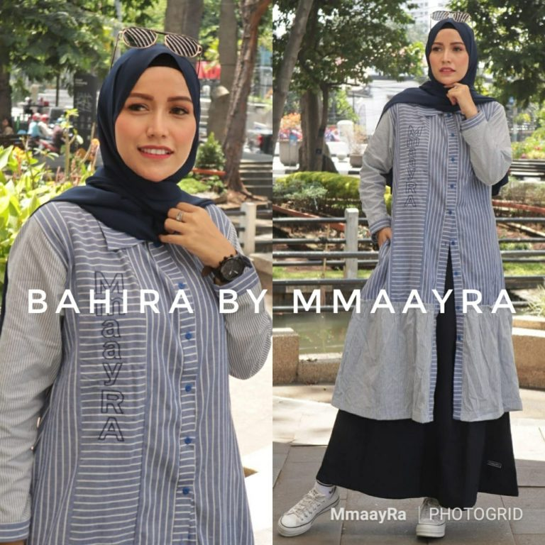 Bahira Set Rok Warna Navy Blue