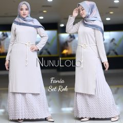 Fania Set Rok Warna Cream