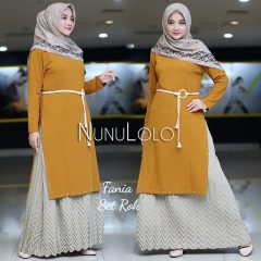 Fania Set Rok Warna Yellow