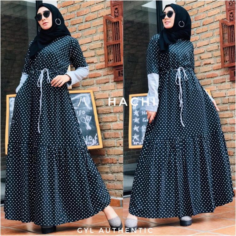 Hachi Dress Warna Black