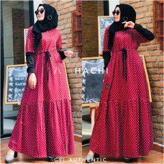Hachi Dress Warna Maroon
