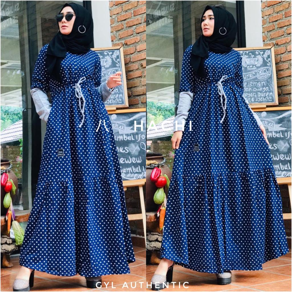Hachi Dress Warna Navy Blue