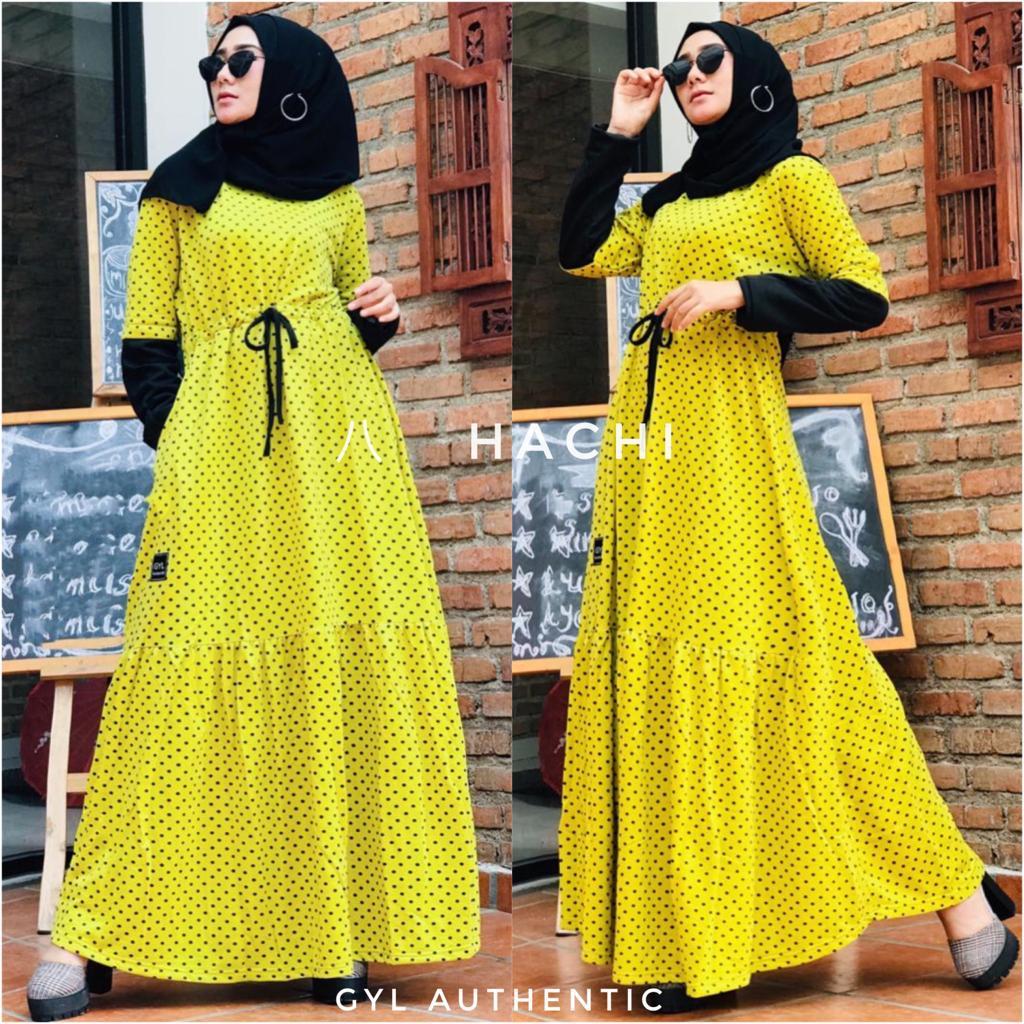 Hachi Dress Warna Yellow